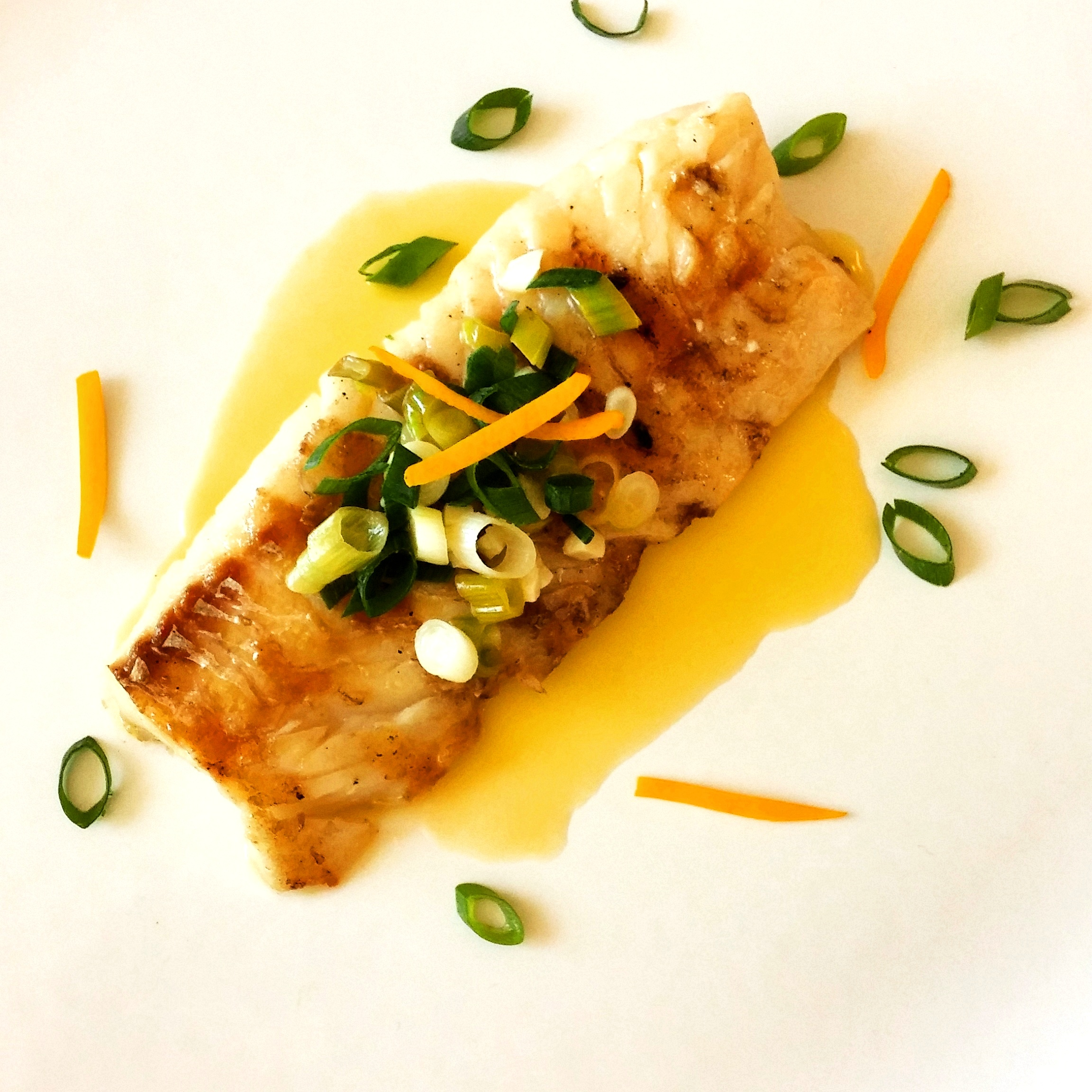Cod fish with Meyer Lemon Butter Sauce
