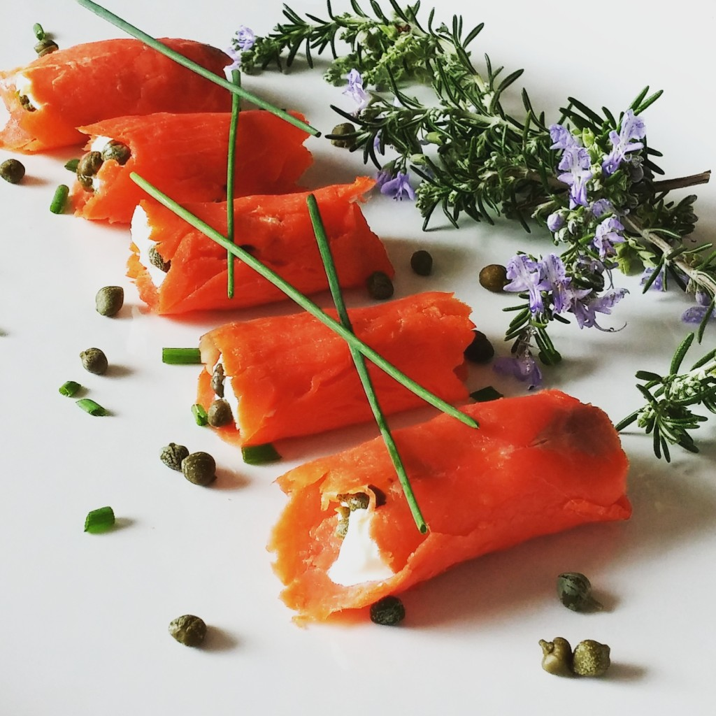 Smoked Salmon Rolls Appetizer