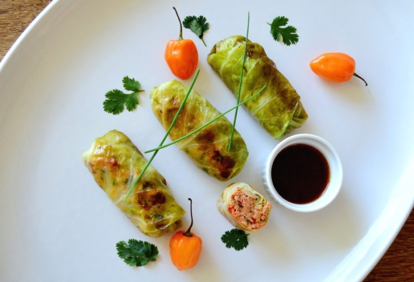 Salmon Cabbage Rolls